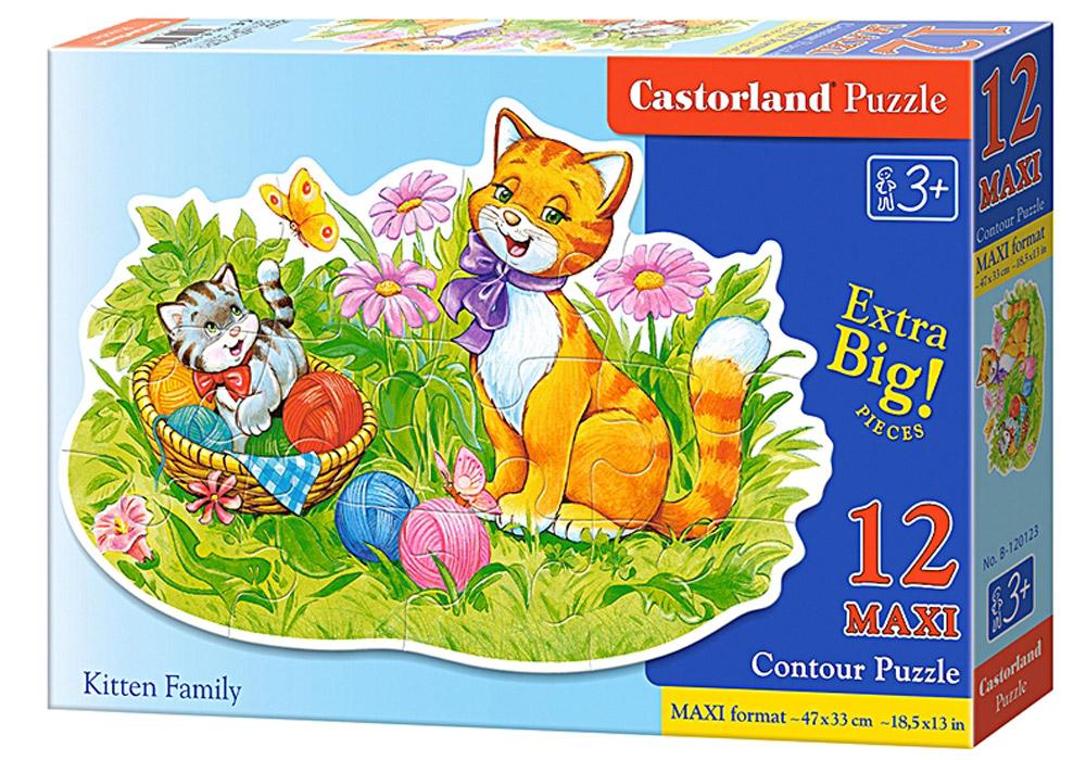 Castorland Пазл Кошачья семьяВ-120123Пазлы Castorland это - высокий уровень полиграфии, четкие и красочные цвета, продуманные иллюстрации, уникальность формы каждой детали, разнообразие тематик