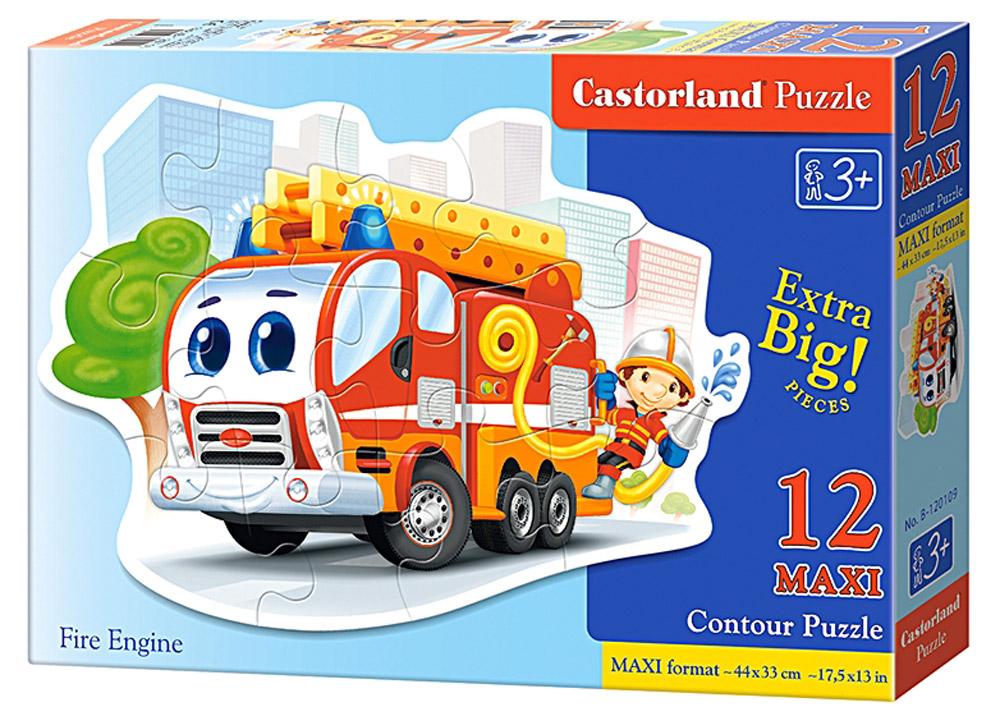 Castorland Пазл Пожарная машинаВ-120109Пазлы Castorland это - высокий уровень полиграфии, четкие и красочные цвета, продуманные иллюстрации, уникальность формы каждой детали, разнообразие тематик