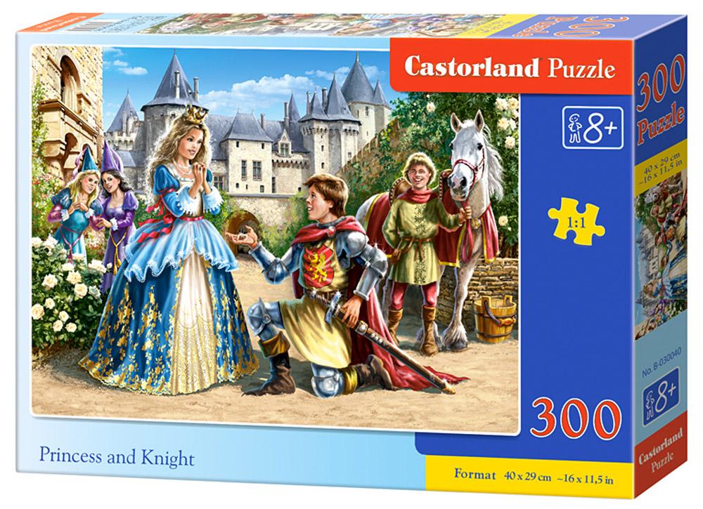 Castorland Пазл Принцесса и рыцарьВ-030040Пазлы Castorland это - высокий уровень полиграфии, четкие и красочные цвета, продуманные иллюстрации, уникальность формы каждой детали, разнообразие тематик