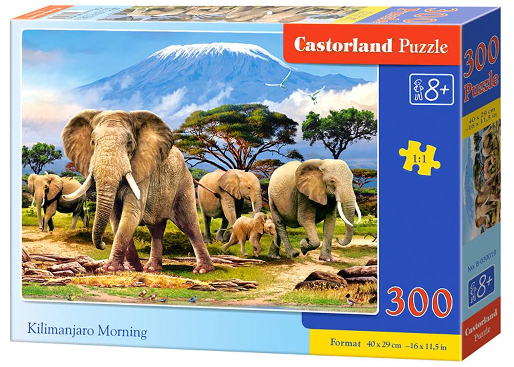 Castorland Пазл Утро в КилиманджароВ-030019Пазлы Castorland это - высокий уровень полиграфии, четкие и красочные цвета, продуманные иллюстрации, уникальность формы каждой детали, разнообразие тематик