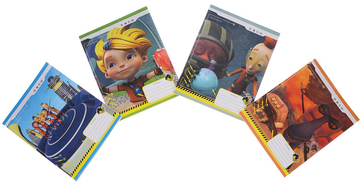 Action! Набор тетрадей Алиса 48 листов в клетку 4 штAZ-AN 4801/5_набор 2Набор тетрадей Action! Алиса идеально подойдет для школьных занятий. Обложка, выполненная из плотного картона, позволит сохранить тетрадь в аккуратном состоянии на протяжении всего времени использования. Обложка тетради оформлена красочным изображением героев мультфильма Алиса знает, что делать!. Внутренний блок на скрепке состоит из 48 листов белой бумаги в голубую клетку с полями. В комплекте 4 тетради.