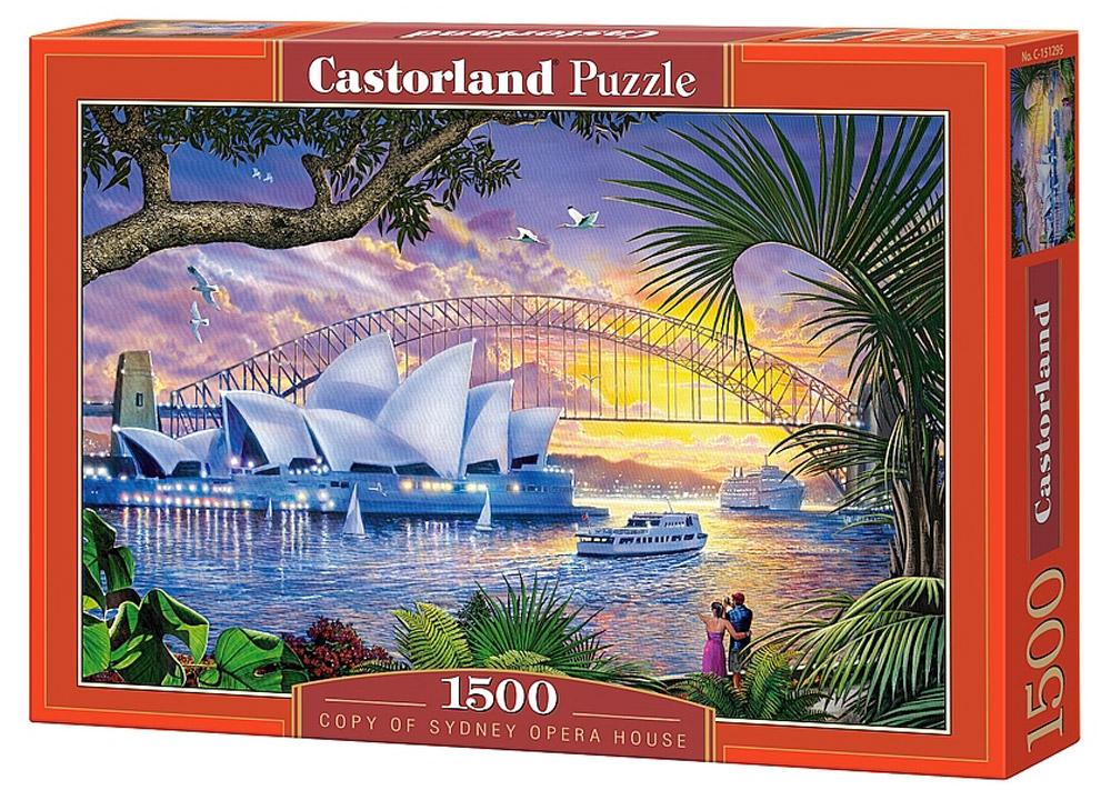 Castorland Пазл Оперный театр СиднейC-151295Пазлы Castorland это - высокий уровень полиграфии, четкие и красочные цвета, продуманные иллюстрации, уникальность формы каждой детали, разнообразие тематик