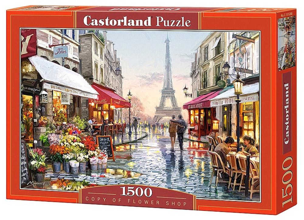 Castorland Пазл Цветочный магазинC-151288Пазлы Castorland это - высокий уровень полиграфии, четкие и красочные цвета, продуманные иллюстрации, уникальность формы каждой детали, разнообразие тематик