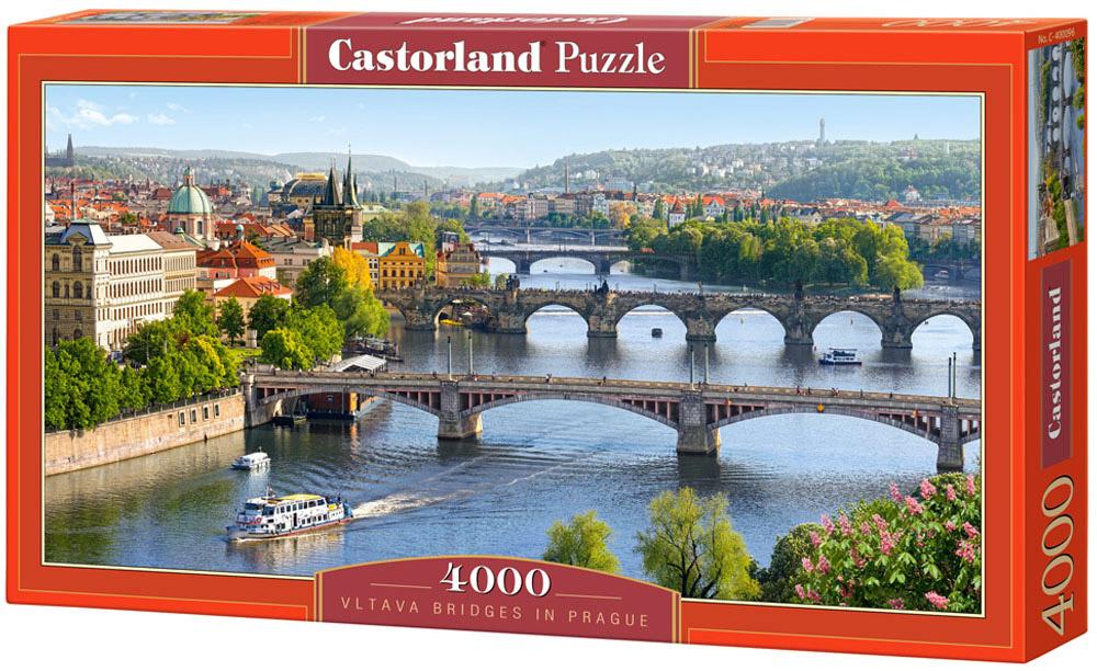 Castorland Пазл Река Влтава ПрагаС-400096Пазлы Castorland это - высокий уровень полиграфии, четкие и красочные цвета, продуманные иллюстрации, уникальность формы каждой детали, разнообразие тематик