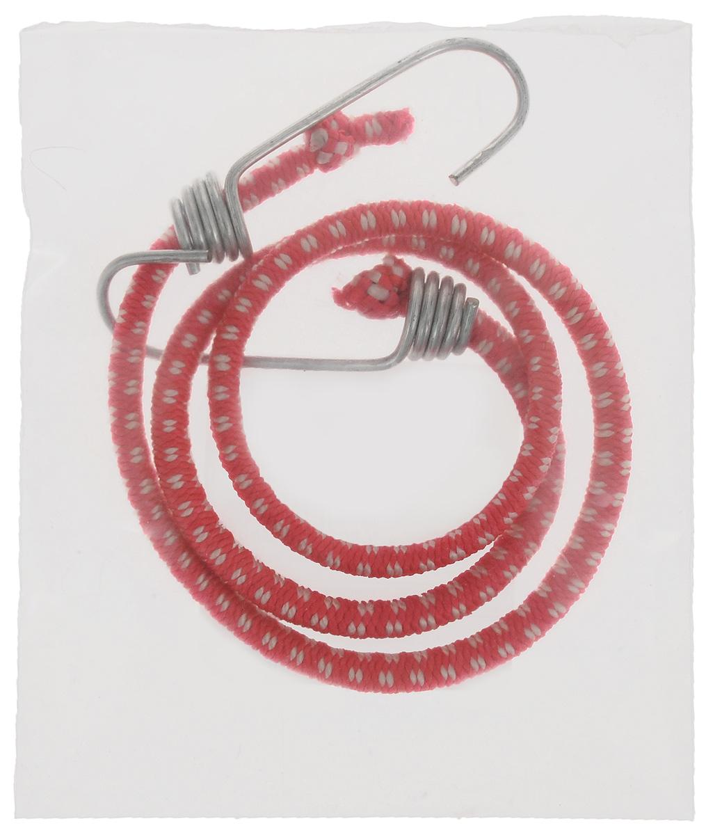 Резинка багажная МастерПроф, с крючками, цвет: красный, белый, 0,6 х 80 см.АС.020021_красный, белый