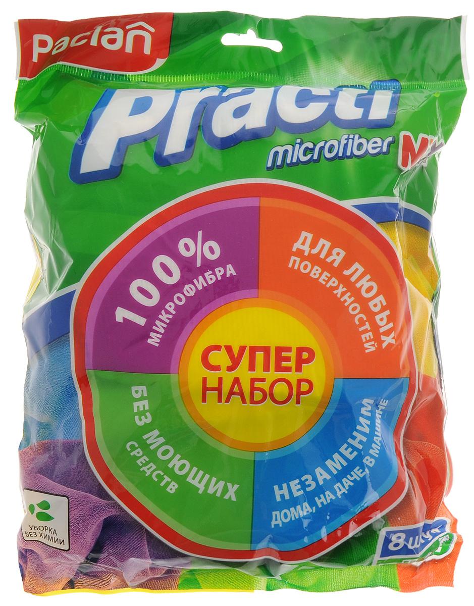 Набор универсальных хозяйственных салфеток из микрофибры Paclan Practi Mix, 8 шт410167/410165Набор универсальных хозяйственных салфеток Practi. Mix из микрофибры поможет вам справиться с любой работой по дому. Они очистят любую поверхность от пыли и грязи, не повреждая и не царапая поверхность.