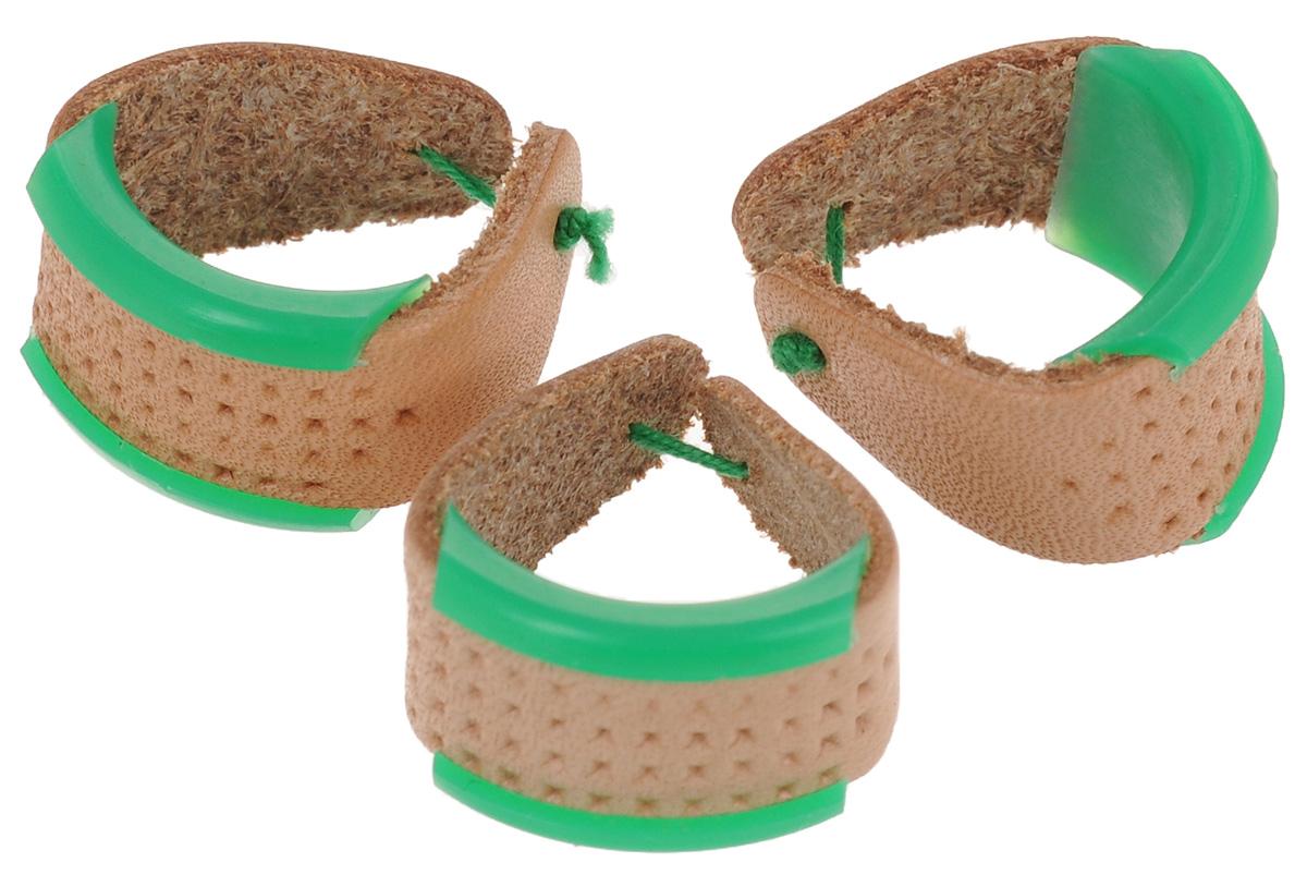 Наперсток кожаный Clover, цвет: зеленый.3 шт612_зеленый