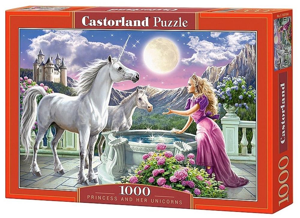 Castorland Пазл Принцесса и ее единорогC-103164Пазлы Castorland это - высокий уровень полиграфии, четкие и красочные цвета, продуманные иллюстрации, уникальность формы каждой детали, разнообразие тематик