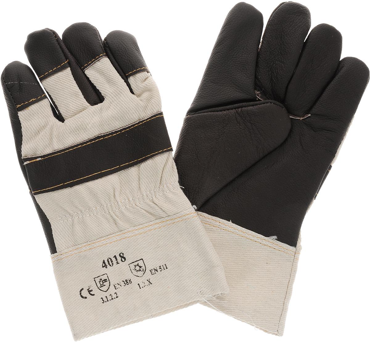 Перчатки защитные Рос, кожаные, цвет: темно-коричневый12445_темно-коричневый