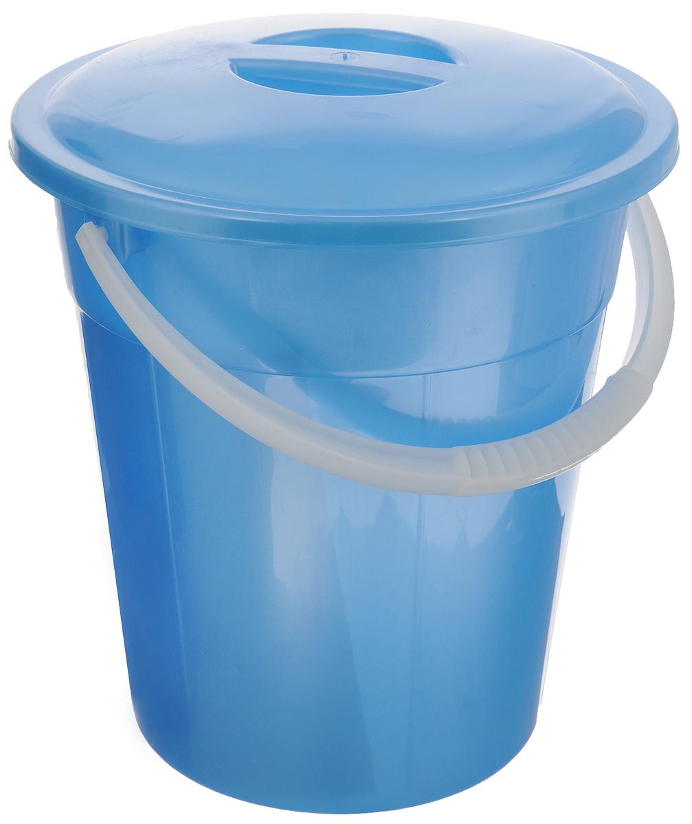 Ведро пищевое РадианЕвро, с крышкой, цвет: голубой, 8 л4607168313179_голубой