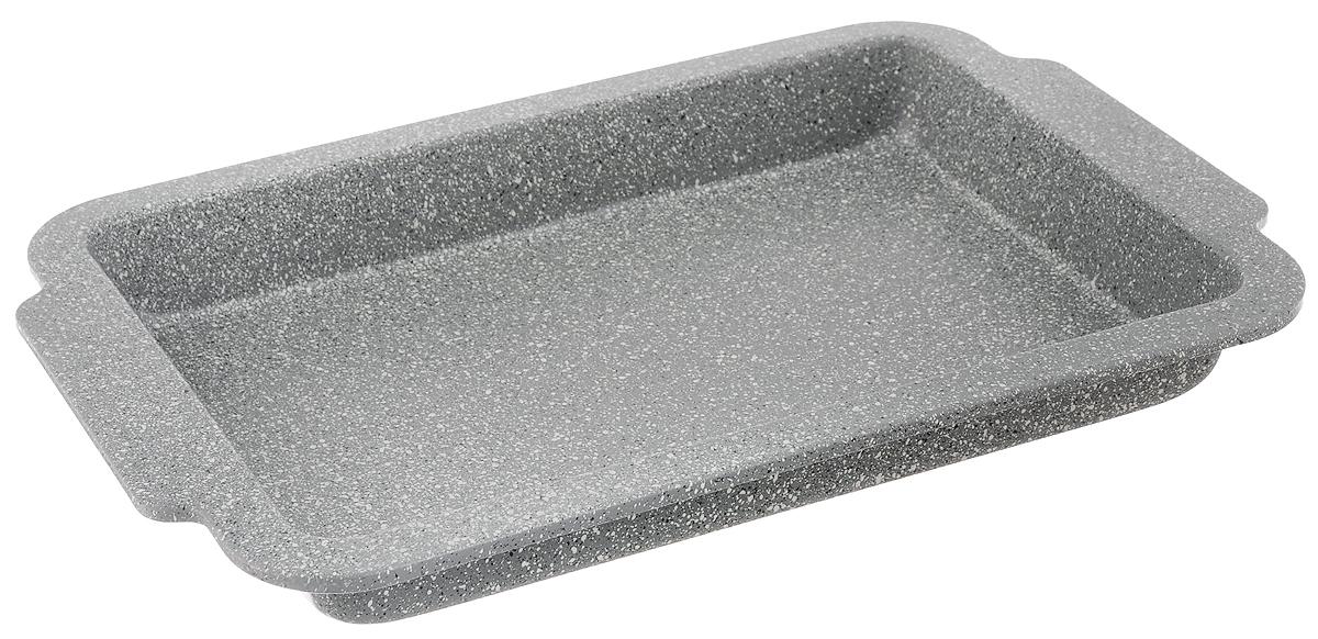 Противень Mayer & Boch, с мраморным покрытием, прямоугольный, 40,5 х 27 х 4 см24955Противень Mayer & Boch изготовлен из углеродистой стали с антипригарным мраморным покрытием. Покрытие не оставляет послевкусия, делает возможным приготовление блюд без масла, сохраняет витамины и питательные вещества. Благодаря антипригарным свойствам, пища не пригорает и не прилипает к стенкам. Изделие легко чистится, а готовое блюдо легко вынимается и имеет аккуратный внешний вид. Противень идеально подходит для запекания всевозможных блюд из мяса и овощей, а также выпечки из теста. Изделие подходит только для духового шкафа. Не рекомендуется использовать в посудомоечной машине.
