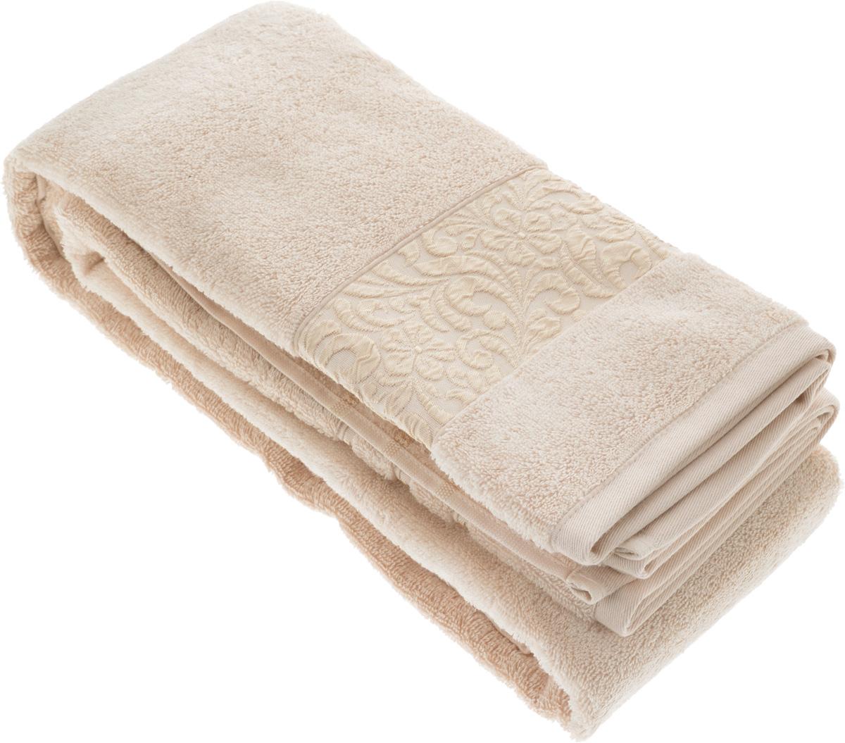 Полотенце бамбуковое Issimo Home Valencia, цвет: пудра, 90 x 150 см4762Полотенце Issimo Home Valencia выполнено из 60% бамбукового волокна и 40% хлопка. Таким полотенцем не нужно вытираться - только коснитесь кожи - и ткань сама все впитает. Такая ткань впитывает в 3 раза лучше, чем хлопок. Несмотря на высокую плотность, полотенце быстро сохнет, остается легкими даже при намокании. Изделие имеет красивый жаккардовый бордюр, оформленный цветочным орнаментом. Благородные, классические тона создадут уют и подчеркнут лучшие качества махровой ткани, а сочные, яркие, летние оттенки создадут ощущение праздника и наполнят дом энергией. Красивая, стильная упаковка этого полотенца делает его уже готовым подарком к любому случаю.