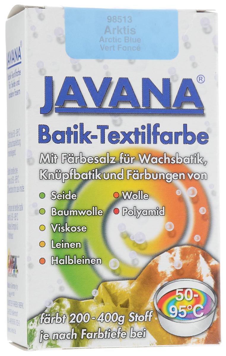 Краситель порошковый для ткани Kreul Javana Batik, горячей фиксации, цвет: светло-голубой, 75 гKR-98513Краситель порошковый для ткани Kreul Javana Batik предназначен для окрашивания шелка, хлопка, льна, вискозы, шерсти и полиамида. Способ применения: 1 пакет красителя растворить в 6 литрах воды для окрашивания 400 г сухой ткани. Для шелка, шерсти - добавить 300 мл уксуса. Поставить на водяную баню при умеренной температуре (от +50°С до +90°С), постоянно помешивая в течение часа. Дать остыть ткани в красителе, прополоскать в теплой воде. Стирать отдельно при температуре 40°С. Батик - древнейшее искусство декорирования текстиля и предметов интерьера. Это самый древний вид росписи из существующих в наше время. Он известен уже более 2000 лет. Изделия из расписанных тканей находят утилитарное применение в одежде, аксессуарах и декоре современных интерьеров. Используя новые техники и материалы, вы можете создать индивидуальный стиль, привнести в жизнь яркие краски, тепло и уют.