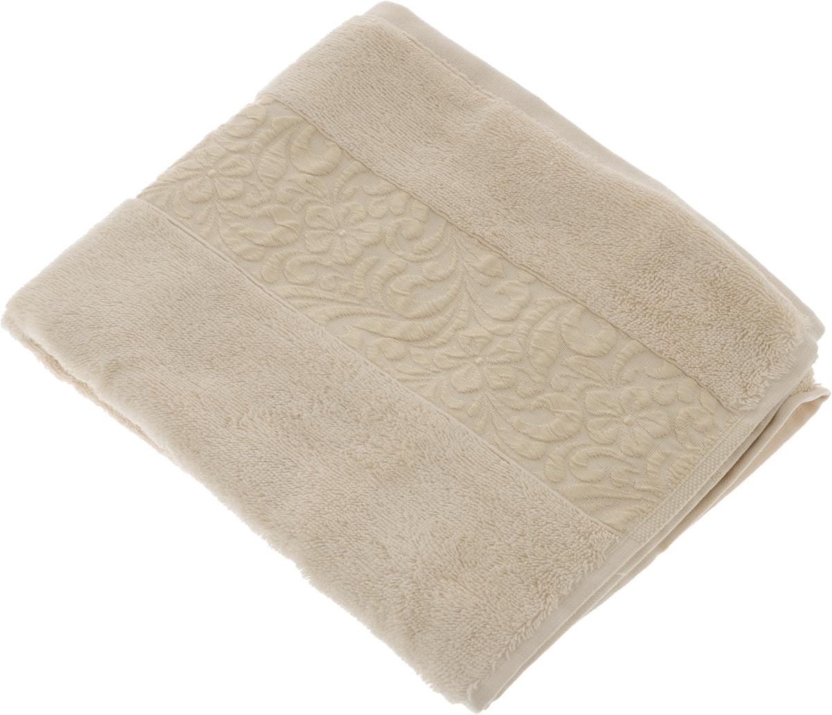 Полотенце бамбуковое Issimo Home Valencia, цвет: пудра, 50 x 90 см4760Полотенце Issimo Home Valencia выполнено из 60% бамбукового волокна и 40% хлопка. Таким полотенцем не нужно вытираться - только коснитесь кожи - и ткань сама все впитает. Такая ткань впитывает в 3 раза лучше, чем хлопок. Несмотря на высокую плотность, полотенце быстро сохнет, остается легкими даже при намокании. Изделие имеет красивый жаккардовый бордюр, оформленный цветочным орнаментом. Благородные, классические тона создадут уют и подчеркнут лучшие качества махровой ткани, а сочные, яркие, летние оттенки создадут ощущение праздника и наполнят дом энергией. Красивая, стильная упаковка этого полотенца делает его уже готовым подарком к любому случаю.