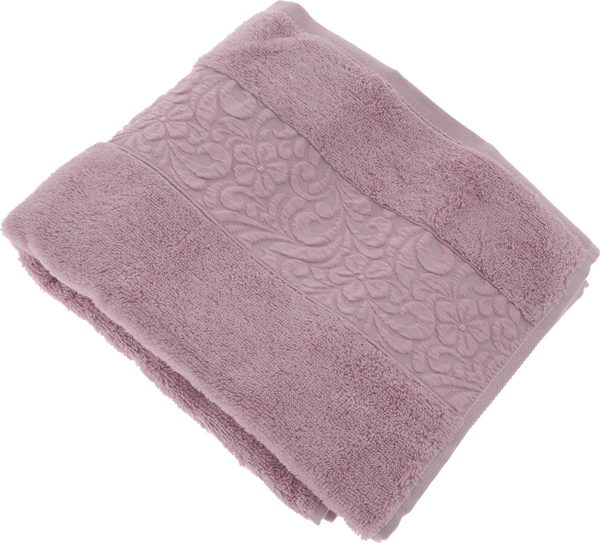 Полотенце бамбуковое Issimo Home Valencia, цвет: светло-пурпурный, 50 x 90 см4768Полотенце Issimo Home Valencia выполнено из 60% бамбукового волокна и 40% хлопка. Таким полотенцем не нужно вытираться - только коснитесь кожи - и ткань сама все впитает. Такая ткань впитывает в 3 раза лучше, чем хлопок. Несмотря на высокую плотность, полотенце быстро сохнет, остается легкими даже при намокании. Изделие имеет красивый жаккардовый бордюр, оформленный цветочным орнаментом. Благородные, классические тона создадут уют и подчеркнут лучшие качества махровой ткани, а сочные, яркие, летние оттенки создадут ощущение праздника и наполнят дом энергией. Красивая, стильная упаковка этого полотенца делает его уже готовым подарком к любому случаю.