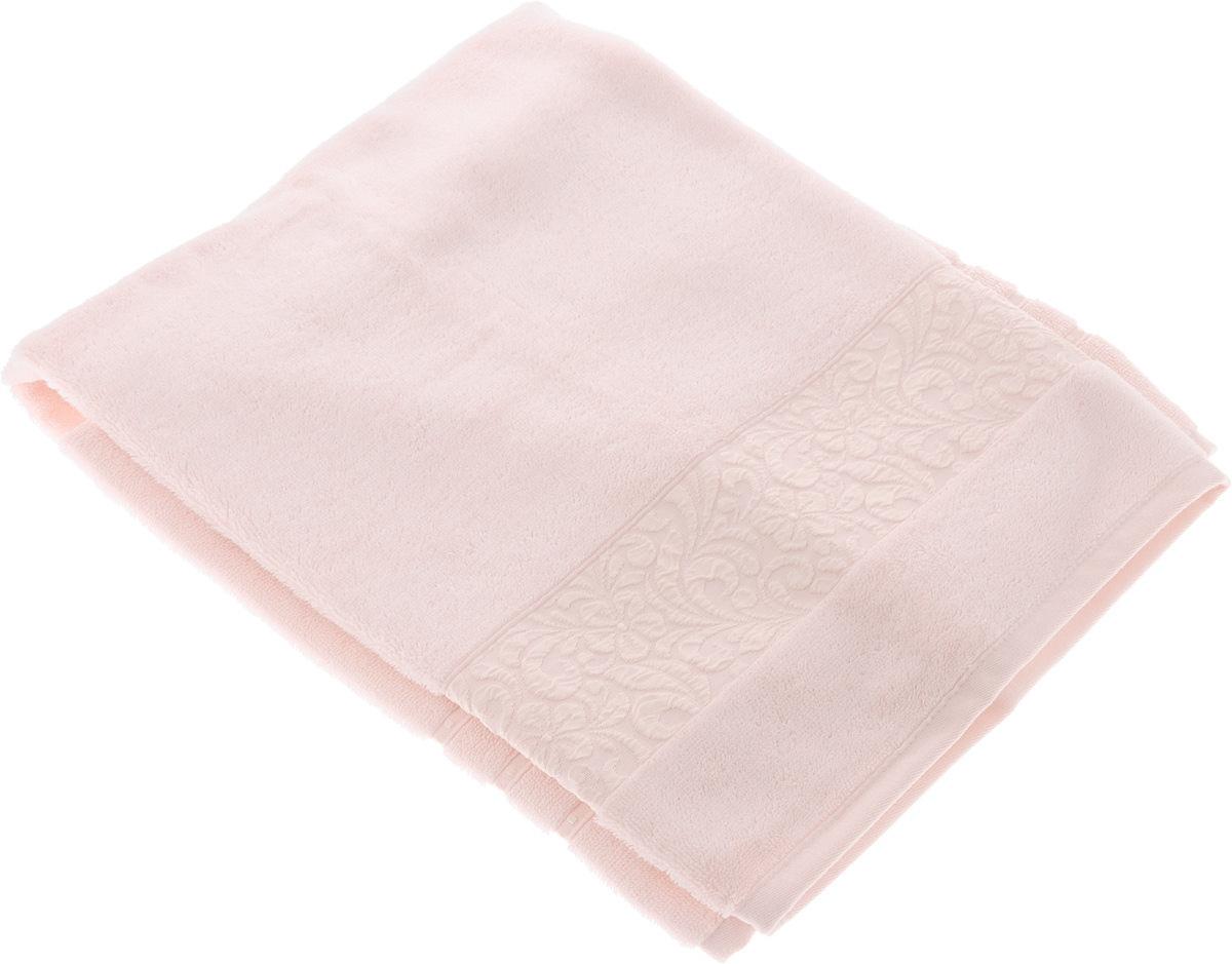Полотенце бамбуковое Issimo Home Valencia, цвет: светло-розовый, 50 x 90 см4780Полотенце Issimo Home Valencia выполнено из 60% бамбукового волокна и 40% хлопка. Таким полотенцем не нужно вытираться - только коснитесь кожи - и ткань сама все впитает. Такая ткань впитывает в 3 раза лучше, чем хлопок. Несмотря на высокую плотность, полотенце быстро сохнет, остается легкими даже при намокании. Изделие имеет красивый жаккардовый бордюр, оформленный цветочным орнаментом. Благородные, классические тона создадут уют и подчеркнут лучшие качества махровой ткани, а сочные, яркие, летние оттенки создадут ощущение праздника и наполнят дом энергией. Красивая, стильная упаковка этого полотенца делает его уже готовым подарком к любому случаю.