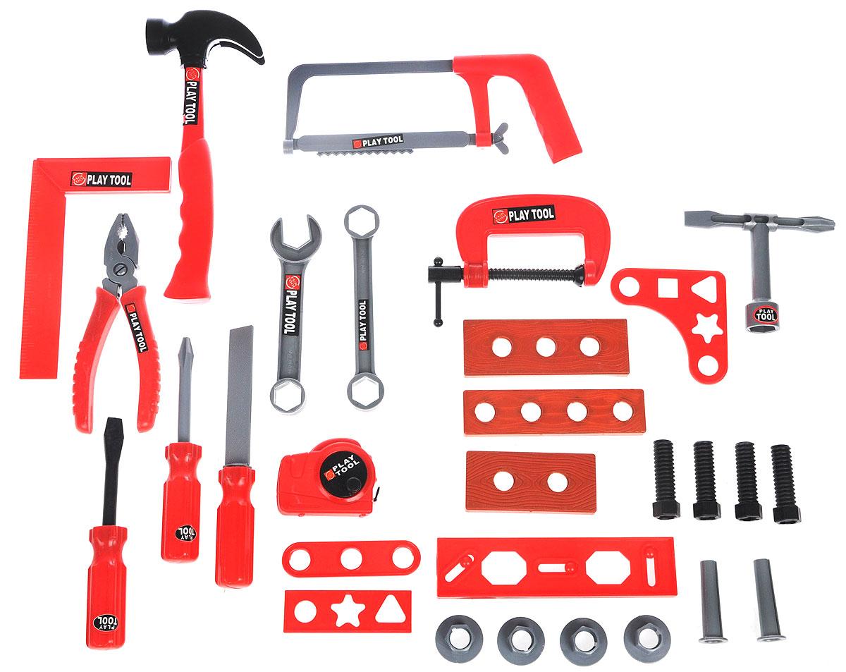 Altacto Игровой набор инструментов Маленький умелецALT0202-017Игровой набор инструментов Altacto Маленький умелец станет отличным подарком для маленького мастера. В наборе имеется все, что может пригодиться юному строителю: молоток, пассатижи, ручная пила, строительный угольник, 3 отвертки, 2 гаечных ключа, рулетка, напильник, струбцина, доски, скобяные изделия. Малыш сможет отремонтировать игрушки и устранить все неисправности в доме, помогая папе. Игры с этим набором способствуют развитию воображения и познавательного мышления. Все изделия набора изготовлены из нетоксичного и качественного материала.