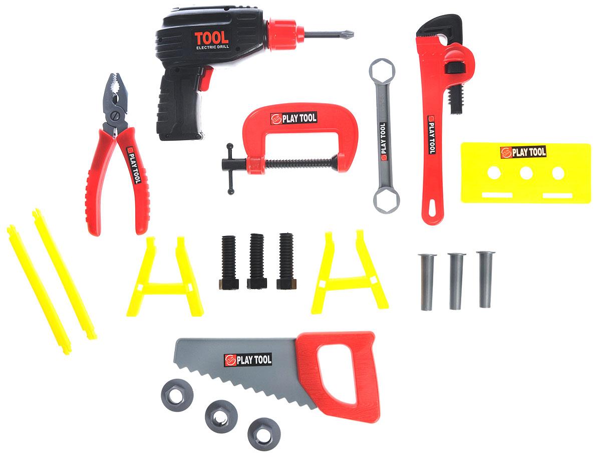 Altacto Игровой набор инструментов Заветный чемоданчикALT0202-014Игровой набор инструментов Altacto Заветный чемоданчик станет отличным подарком для маленького мастера. В наборе имеется все, что может пригодиться юному строителю: электрическая дрель, разводной ключ, гаечный ключ, пассатижи, струбцина, ручная пила, верстак, скобяные изделия. Все инструменты упакованы в пластиковый кейс. Малыш сможет отремонтировать игрушки и устранить все неисправности в доме, помогая папе. Игры с этим набором способствуют развитию воображения и познавательного мышления. Все изделия набора изготовлены из нетоксичного и качественного материала. Для работы дрели необходимы 2 батарейки типа АА (не входят в комплект).