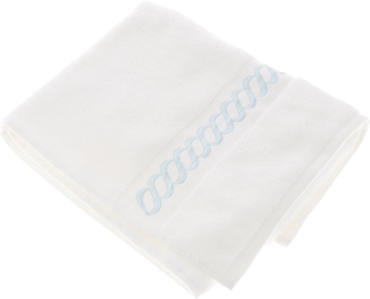 Полотенце махровое Issimo Home Pauline, цвет: белый, голубой, 50 x 90 см4730Полотенце Issimo Home Pauline выполнено из натуральной махровой ткани (100% хлопок). Изделие отлично впитывает влагу, быстро сохнет и не теряет форму даже после многократных стирок. Рекомендации по уходу: - режим стирки при 40°C, - допускается обычная химчистка, - отбеливание запрещено, - глажка при температуре подошвы утюга до 110°С, - барабанный отжим запрещен. Размер полотенца: 50 x 90 см.