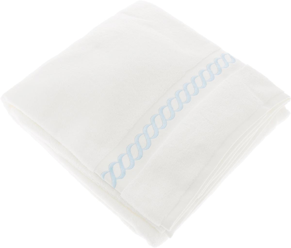 Полотенце махровое Issimo Home Pauline, цвет: белый, голубой, 90 x 150 см4733Полотенце Issimo Home Pauline выполнено из натуральной махровой ткани (100% хлопок). Изделие отлично впитывает влагу, быстро сохнет и не теряет форму даже после многократных стирок. Рекомендации по уходу: - режим стирки при 40°C, - допускается обычная химчистка, - отбеливание запрещено, - глажка при температуре подошвы утюга до 110°С, - барабанный отжим запрещен. Размер полотенца: 90 x 150 см.