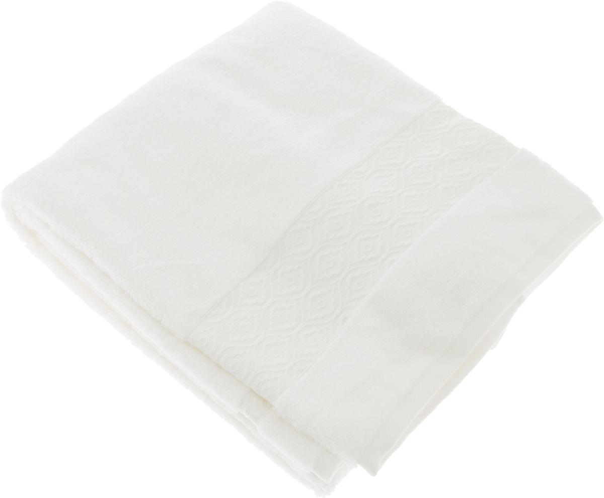 Полотенце Issimo Home Delphine, цвет: белый, 70 x 140 см4713Полотенце Issimo Home Delphine выполнено из модала и хлопка. Такое полотенце обладает уникальными свойствами и характеристиками. Необычайная мягкость модала и шелковистый блеск делают изделие приятными на ощупь и практичными в использовании. Моментально впитывает влагу, сохраняет невесомость даже в мокром виде, быстро сохнет. Полотенце декорировано жаккардовым узором.