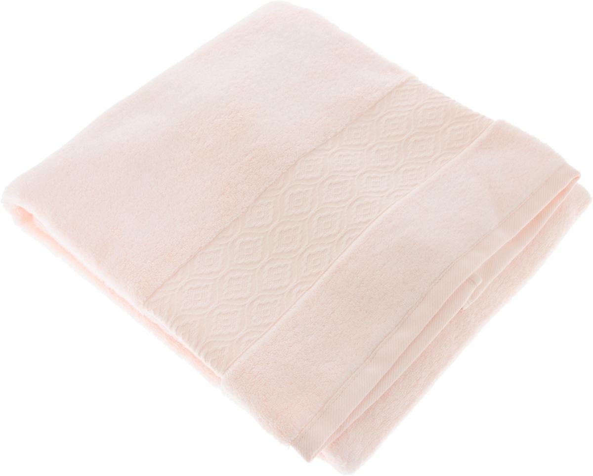 Полотенце Issimo Home Delphine, цвет: розовый, 70 x 140 см4708Полотенце Issimo Home Delphine выполнено из модала и хлопка. Такое полотенце обладает уникальными свойствами и характеристиками. Необычайная мягкость модала и шелковистый блеск делают изделие приятными на ощупь и практичными в использовании. Моментально впитывает влагу, сохраняет невесомость даже в мокром виде, быстро сохнет. Полотенце декорировано жаккардовым узором.