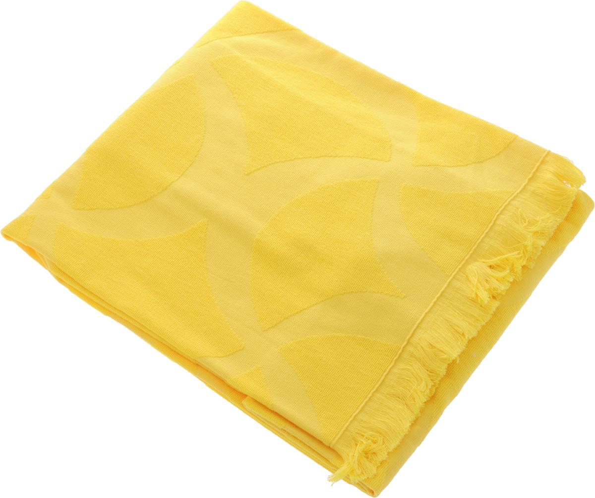 Полотенце Issimo Home Rondelle, цвет: желтый, 90 x 180 см5016Полотенце Issimo Home Rondelle выполнено из 100% хлопка. Изделие отлично впитывает влагу, быстро сохнет, сохраняет яркость цвета и не теряет форму даже после многократных стирок. Полотенце очень практично и неприхотливо в уходе. Оно прекрасно дополнит интерьер ванной комнаты.