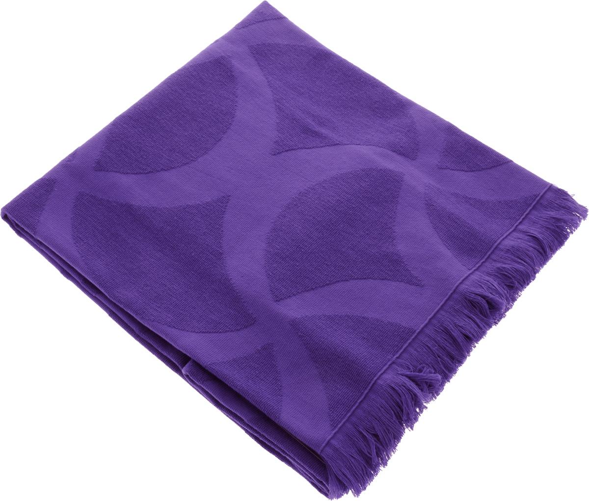 Полотенце Issimo Home Rondelle, цвет: фиолетовый, 90 x 180 см5007Полотенце Issimo Home Rondelle выполнено из 100% хлопка. Изделие отлично впитывает влагу, быстро сохнет, сохраняет яркость цвета и не теряет форму даже после многократных стирок. Полотенце очень практично и неприхотливо в уходе. Оно прекрасно дополнит интерьер ванной комнаты.