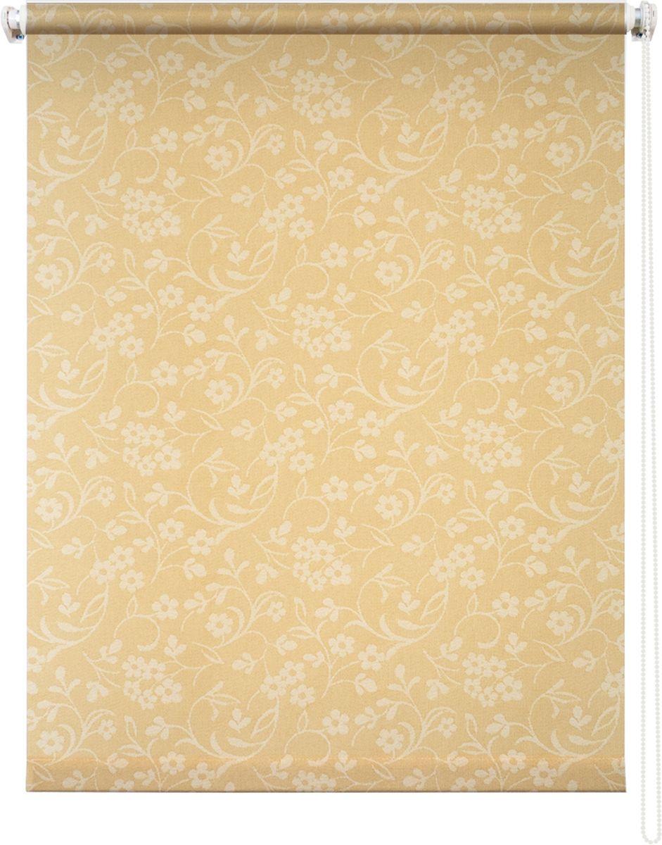 Штора рулонная Уют Моравия, цвет: желтый, 40 х 175 см62.РШТО.8907.040х175• Защита от посторонних взглядов. • Фиксация в любом положении. • Крепеж: Универсальный (к потолку, к раме, к стене).