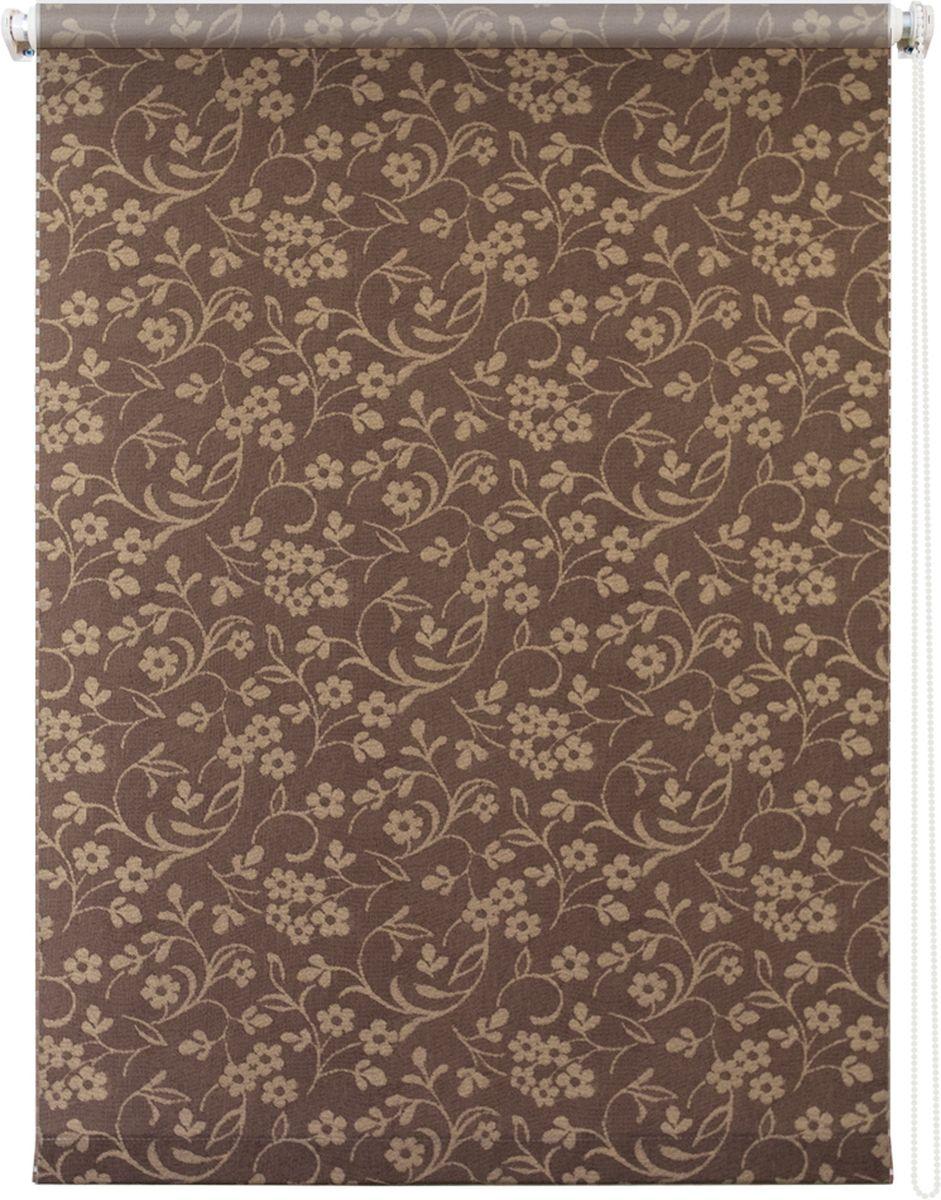 Штора рулонная Уют Моравия, цвет: коричневый, 50 х 175 см62.РШТО.8908.050х175• Защита от посторонних взглядов. • Фиксация в любом положении. • Крепеж: Универсальный (к потолку, к раме, к стене).