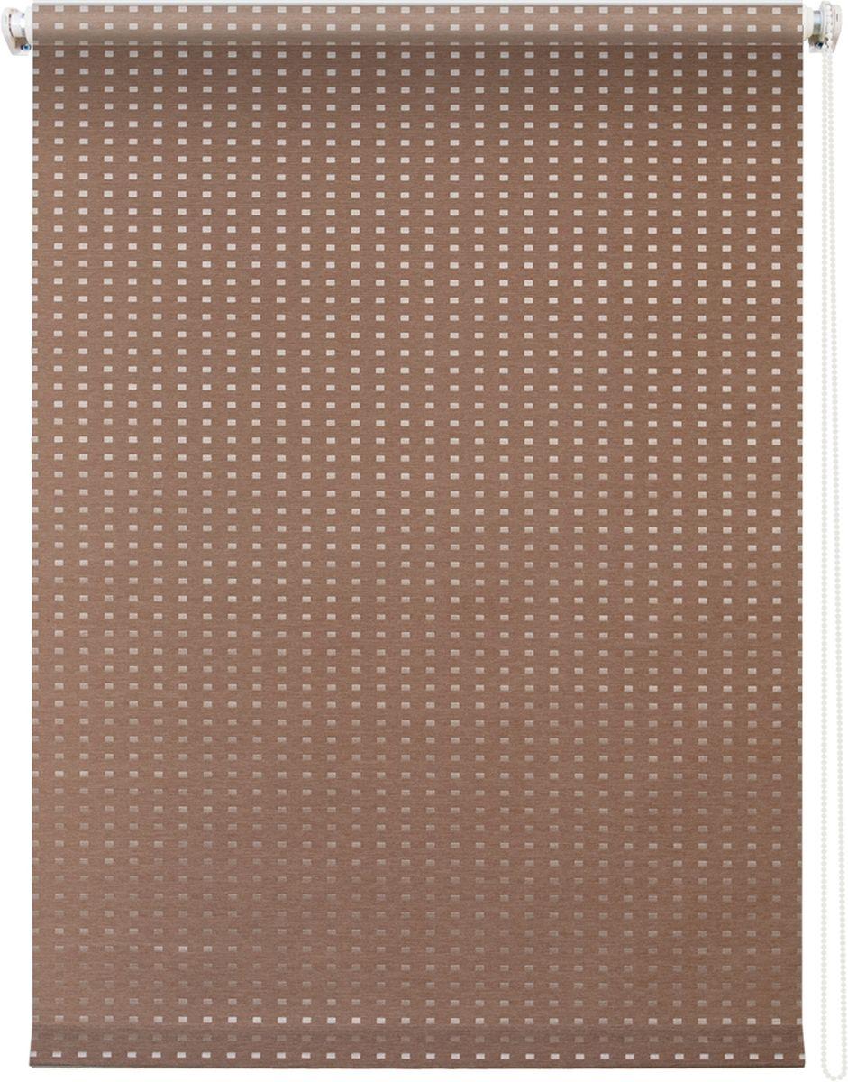 Штора рулонная Уют Плаза, цвет: коричневый, 60 х 175 см62.РШТО.7704.060х175• Защита от посторонних взглядов. • Фиксация в любом положении. • Крепеж: Универсальный (к потолку, к раме, к стене).