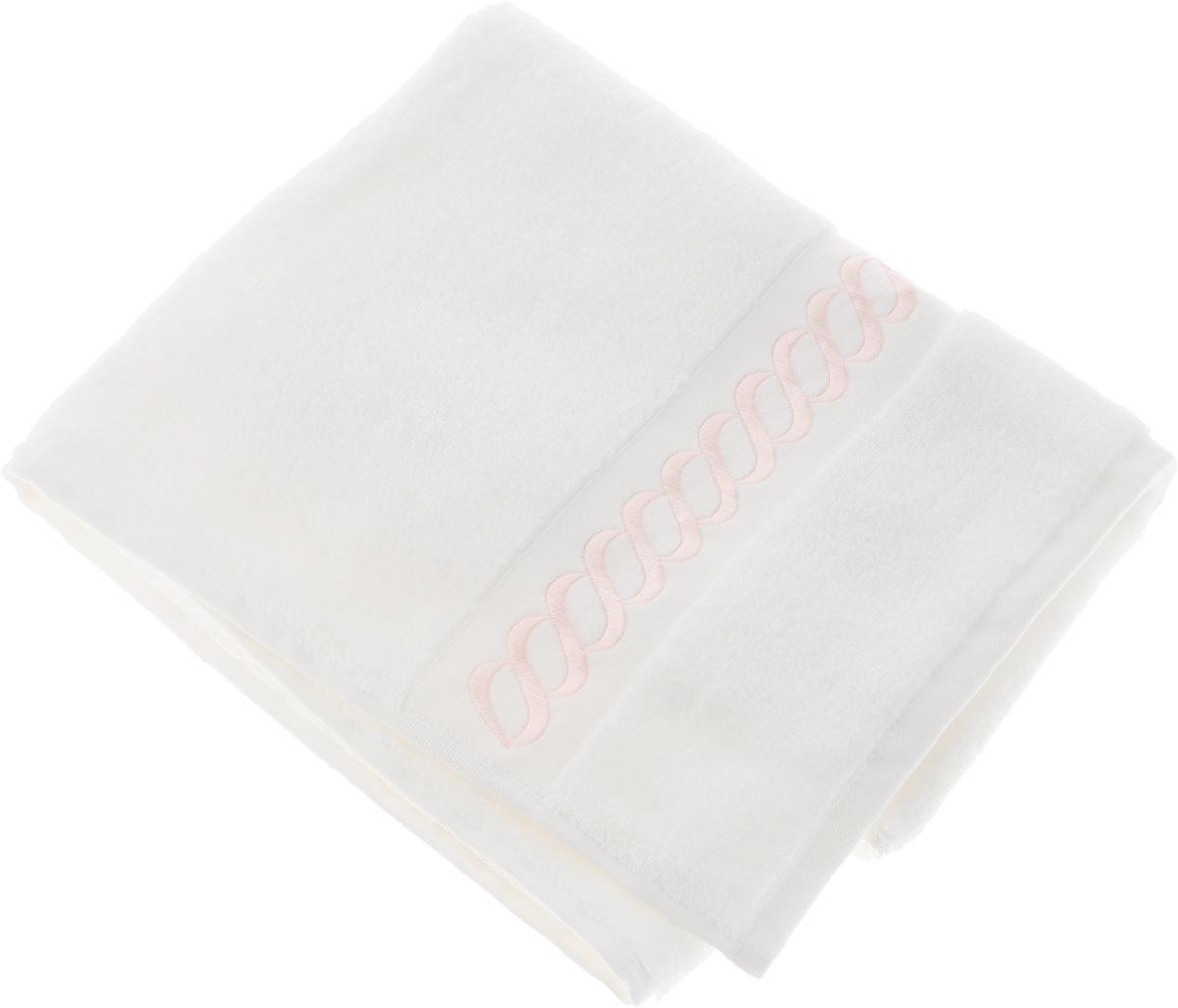 Полотенце махровое Issimo Home Pauline, цвет: белый, розовый, 90 x 150 см4726Полотенце Issimo Home Pauline выполнено из натуральной махровой ткани (100% хлопок). Изделие отлично впитывает влагу, быстро сохнет и не теряет форму даже после многократных стирок. Рекомендации по уходу: - режим стирки при 40°C, - допускается обычная химчистка, - отбеливание запрещено, - глажка при температуре подошвы утюга до 110°С, - барабанный отжим запрещен. Размер полотенца: 90 x 150 см.