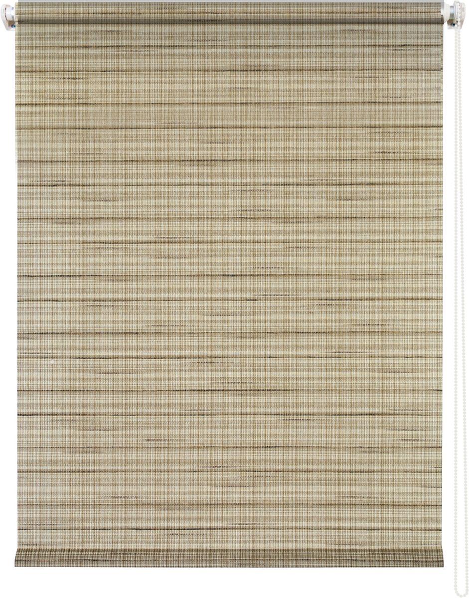Штора рулонная Уют Рига, цвет: коричневый, 120 х 175 см62.РШТО.7712.120х175• Защита от посторонних взглядов. • Фиксация в любом положении. • Крепеж: Универсальный (к потолку, к раме, к стене).