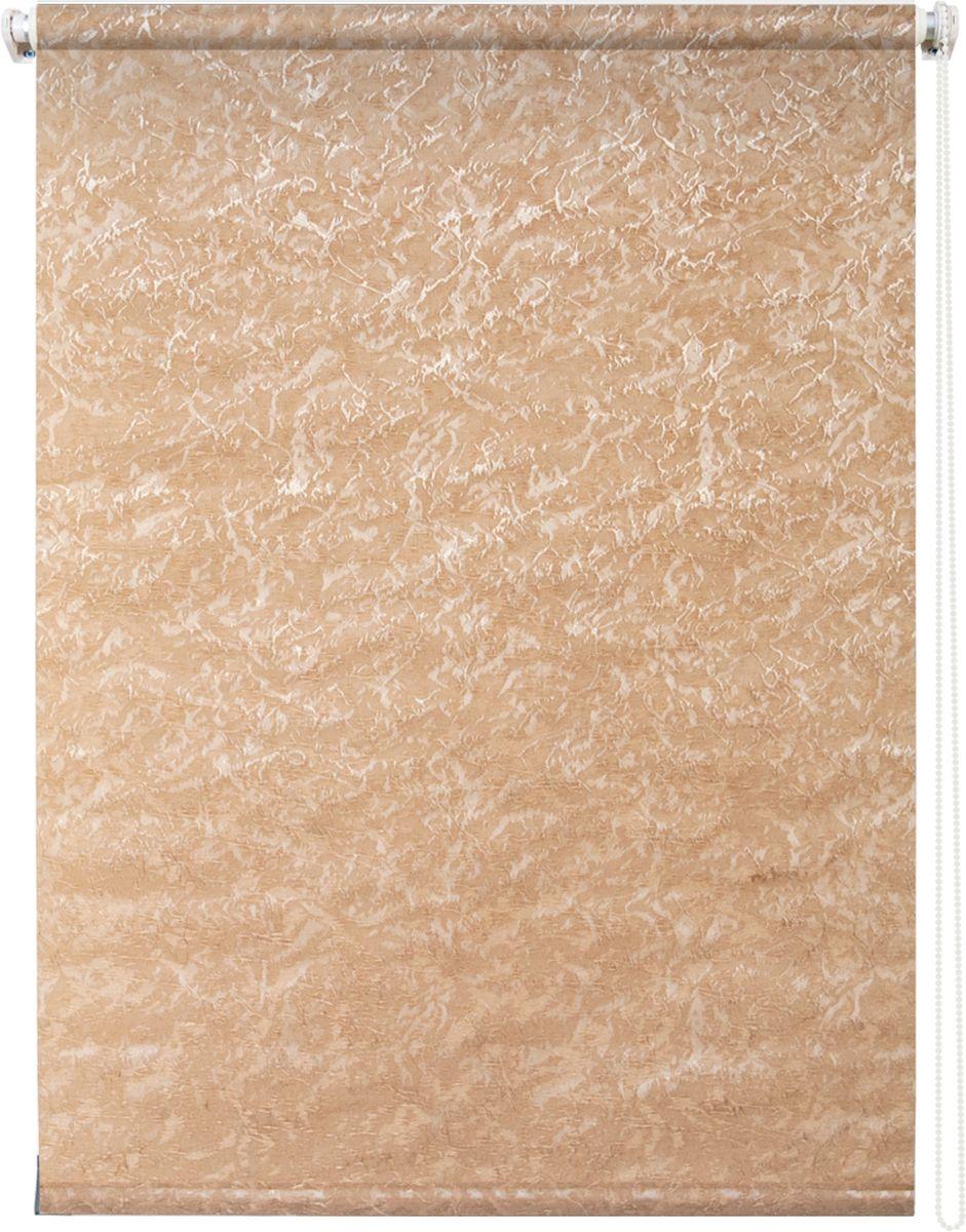 Штора рулонная Уют Фрост, цвет: коричневый, 100 х 175 см62.РШТО.7652.100х175Штора рулонная Уют Фрост выполнена из прочного полиэстера с обработкой специальным составом, отталкивающим пыль. Ткань не выцветает, обладает отличной цветоустойчивостью и светонепроницаемостью. Штора закрывает не весь оконный проем, а непосредственно само стекло и может фиксироваться в любом положении. Она быстро убирается и надежно защищает от посторонних взглядов. Компактность помогает сэкономить пространство. Универсальная конструкция позволяет крепить штору на раму без сверления, также можно монтировать на стену, потолок, створки, в проем, ниши, на деревянные или пластиковые рамы. В комплект входят регулируемые установочные кронштейны и набор для боковой фиксации шторы. Возможна установка с управлением цепочкой как справа, так и слева. Изделие при желании можно самостоятельно уменьшить. Такая штора станет прекрасным элементом декора окна и гармонично впишется в интерьер любого помещения.