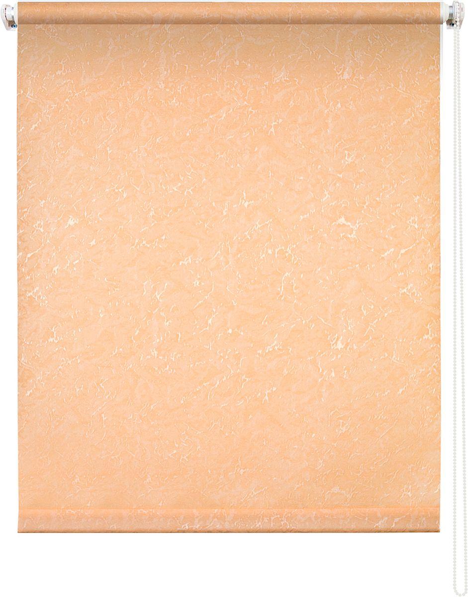 Штора рулонная Уют Фрост, цвет: персиковый, 100 х 175 см62.РШТО.7658.100х175Штора рулонная Уют Фрост выполнена из прочного полиэстера с обработкой специальным составом, отталкивающим пыль. Ткань не выцветает, обладает отличной цветоустойчивостью и светонепроницаемостью. Штора закрывает не весь оконный проем, а непосредственно само стекло и может фиксироваться в любом положении. Она быстро убирается и надежно защищает от посторонних взглядов. Компактность помогает сэкономить пространство. Универсальная конструкция позволяет крепить штору на раму без сверления, также можно монтировать на стену, потолок, створки, в проем, ниши, на деревянные или пластиковые рамы. В комплект входят регулируемые установочные кронштейны и набор для боковой фиксации шторы. Возможна установка с управлением цепочкой как справа, так и слева. Изделие при желании можно самостоятельно уменьшить. Такая штора станет прекрасным элементом декора окна и гармонично впишется в интерьер любого помещения.