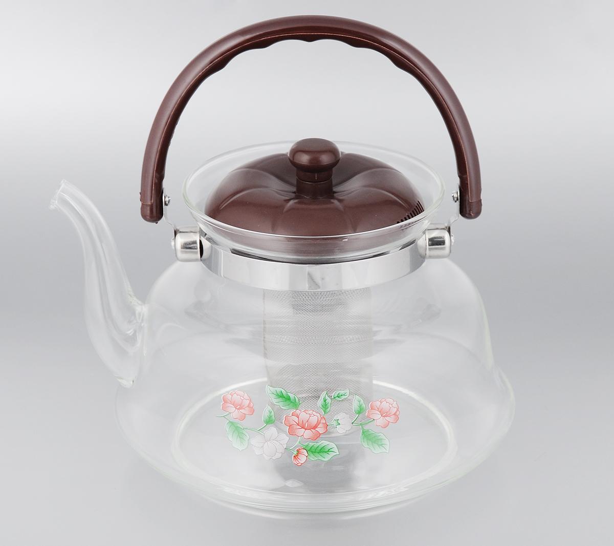 Чайник заварочный Mayer & Boch, с фильтром, 2,2 л. 2078320783Заварочный чайник Mayer & Boch, выполненный из термостойкого стекла, предоставит вам все необходимые возможности для успешного заваривания чая. Изделие оснащено пластиковой ручкой, крышкой и сетчатым фильтром из нержавеющей стали, который задерживает чаинки и предотвращает их попадание в чашку. Чай в таком чайнике дольше остается горячим, а полезные и ароматические вещества полностью сохраняются в напитке. Эстетичный и функциональный чайник будет оригинально смотреться в любом интерьере. Не рекомендуется мыть в посудомоечной машине. Диаметр чайника (по верхнему краю): 12,5 см. Высота чайника (без учета ручки и крышки): 15 см. Высота фильтра: 9,5 см.
