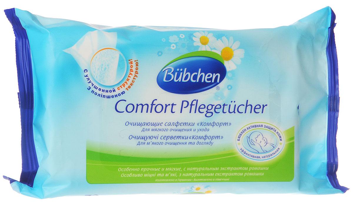Bubchen Влажные салфетки Комфорт с экстрактом ромашки 72 шт