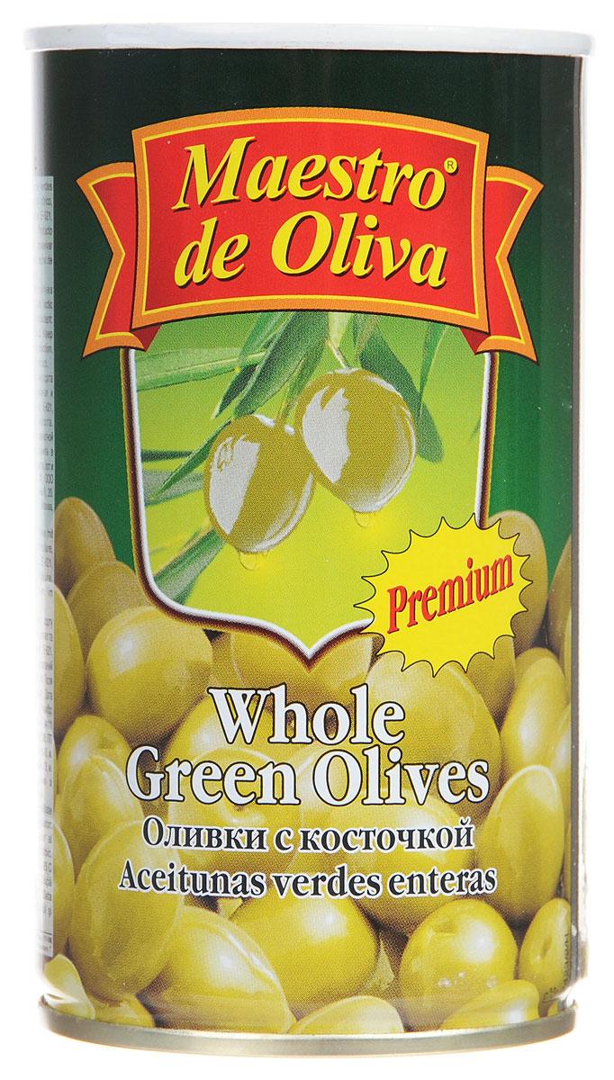 Maestro de Oliva оливки крупные с косточкой, 350 г