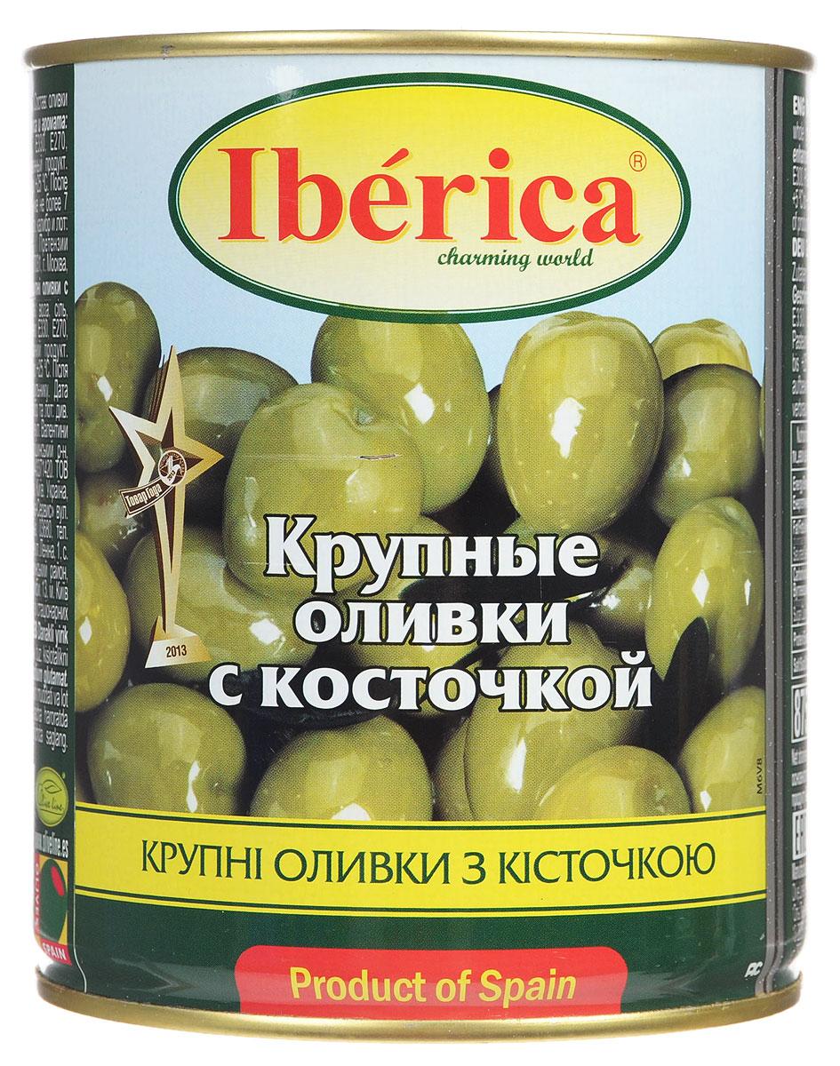 Iberica оливки крупные с косточкой, 875 г