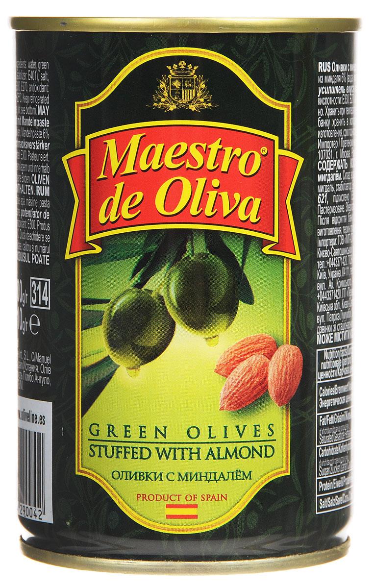 Maestro de Oliva оливки с миндалем, 300 г