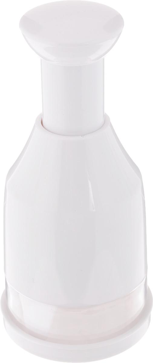 Измельчитель-чоппер Tescoma Handy643556Измельчитель-чоппер Tescoma Handy выполнен из прочного пластика, лезвия - из высококачественной нержавеющей стали. Отлично подходит для мелкой, быстрой, простой и безопасной нарезки чеснока, лука, корнеплодов, фруктов, орехов, шоколада. Высота: 16 см. Диаметр основания: 7 см.