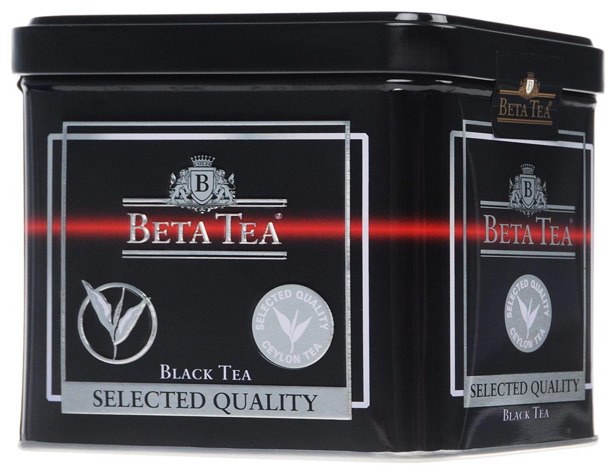 Beta Tea Отборное качество черный листовой чай, 250 г (жестяная банка)8690717005515Этот сорт чая поставляют лучшие чайные плантации Шри-Ланки. Любители крепкого чая с терпким вкусом по достоинству оценят Beta Tea Отборное качество.