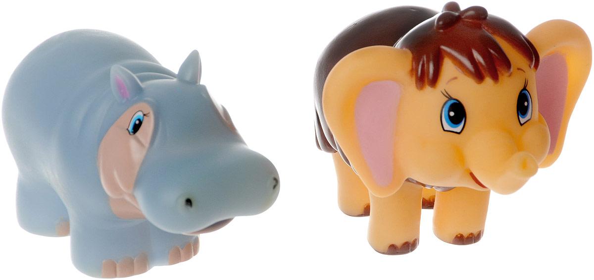 Играем вместе Набор игрушек для ванной Мамонтенок и бегемотиха 2 шт154R-PVCНабор игрушек для ванной Играем вместе Мамонтенок и бегемотиха обязательно понравится вашему малышу и превратит купание в веселый и увлекательный процесс. Игрушки выполнены в виде героев мультфильма Мама для мамонтенка мамонтенка и бегемотихи. При нажатии на игрушку раздается громкий писк. Игрушки способствуют развитию внимательности, мелкой моторики рук, воображения, зрительного восприятия.