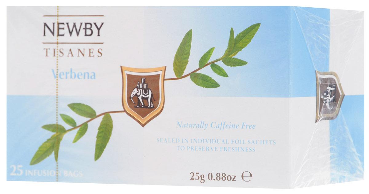 Newby Verbena травяной чай в пакетиках, 25 шт311850Травяной напиток Newby из листьев вербены с освежающим цитрусовым привкусом и освежающим послевкусием.