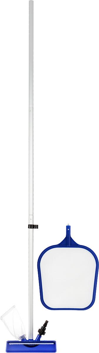 Bestway Набор для ухода за бассейном58013Набор Bestway состоит из легковесной штанги, цельной чистящей насадки с многоразовым мешком для мусора, сачка (скиммера). Чистящая насадка и сачок (скиммер) легко присоединяются к штанге. Насадка имеет разъем для присоединения к ней садового шланга. Сачок (скиммер) оснащен прочной и долговечной сеткой. Все предметы наборы выполнены из полимерных материалов. Для бассейнов размером 3,66 м. (12 футов) и меньше. Длина штанги: 2,03 м Размер сачка (скиммера): 41 х 27 х 2 см. Размер насадки: 24 х 10 х 12 см.