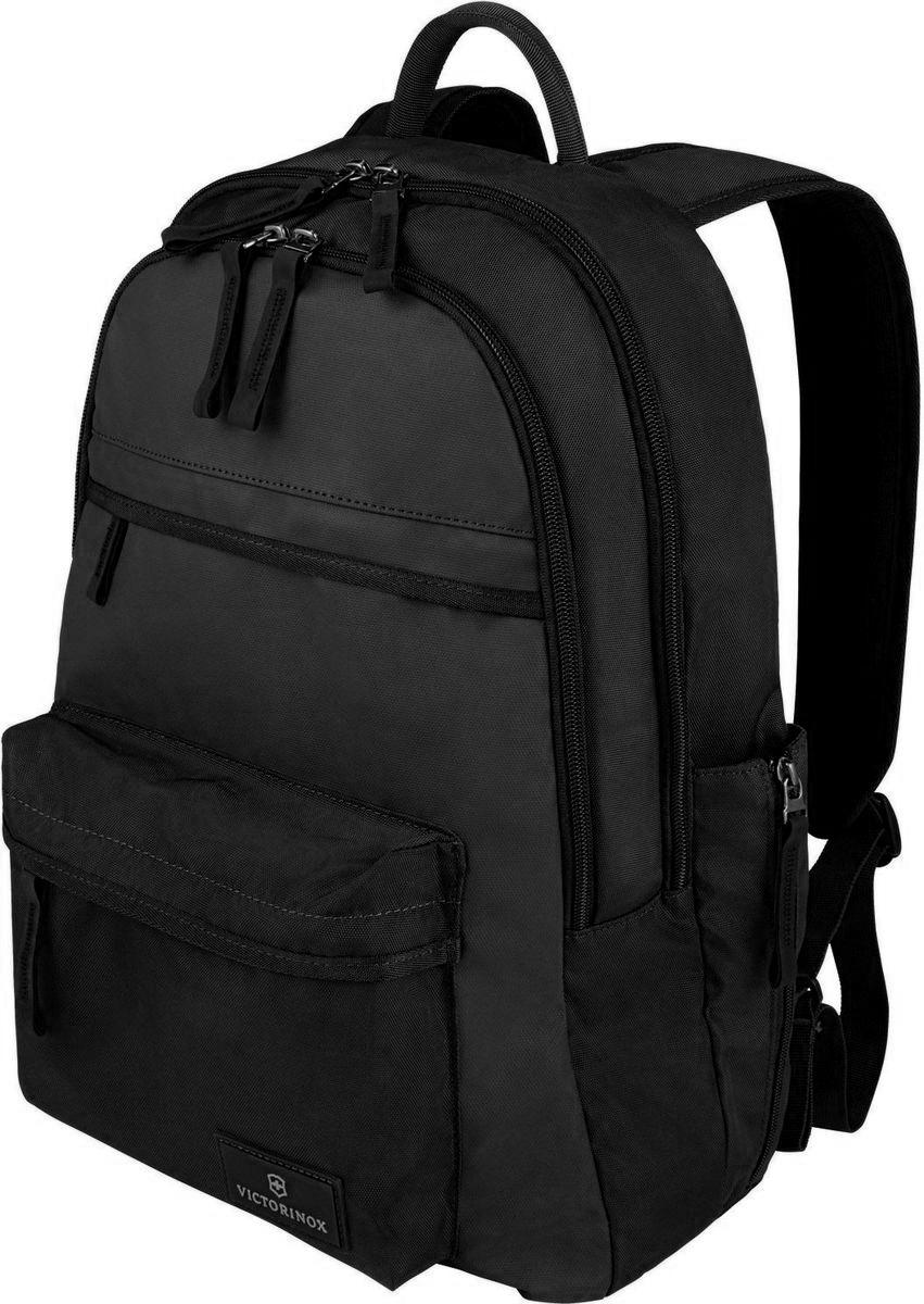 Рюкзак Victorinox Altmont 3.0 Standard Backpack, цвет: черный. 3238840132388401Оригинальный швейцарский армейский нож «Swiss Army» был создан в 1897 году в небольшой деревушке Ибах в Швейцарии.С тех пор продукция,выпускаемая под маркой «Victorinox» с ее узнаваемым логотипом в виде креста на щите,по праву считается эталоном отличного качества,высокой функциональности,инновационных технологий и культового дизайна.Наша преданность принципам в течение последних 130 лет позволила нам создавать продукты,которые являются выдающимися не только по дизайну и качеству,но которые также являются надежными спутниками в больших и маленьких жизненных приключениях. Сегодня мы с гордостью представляем линейку сумок,чемоданов и дорожных аксессуаров,которые наилучшим образом воплощают в себе данные принципы,а также сочетают в себе черты нашего лучшего классического стиля. Индивидуальность-это то,что отличает вас от любого другого человека,с которым вы сталкиваетесь на улице,в поезде,с которым вы общаетесь в городе.Каждый день вашей жизни — это уникальный...