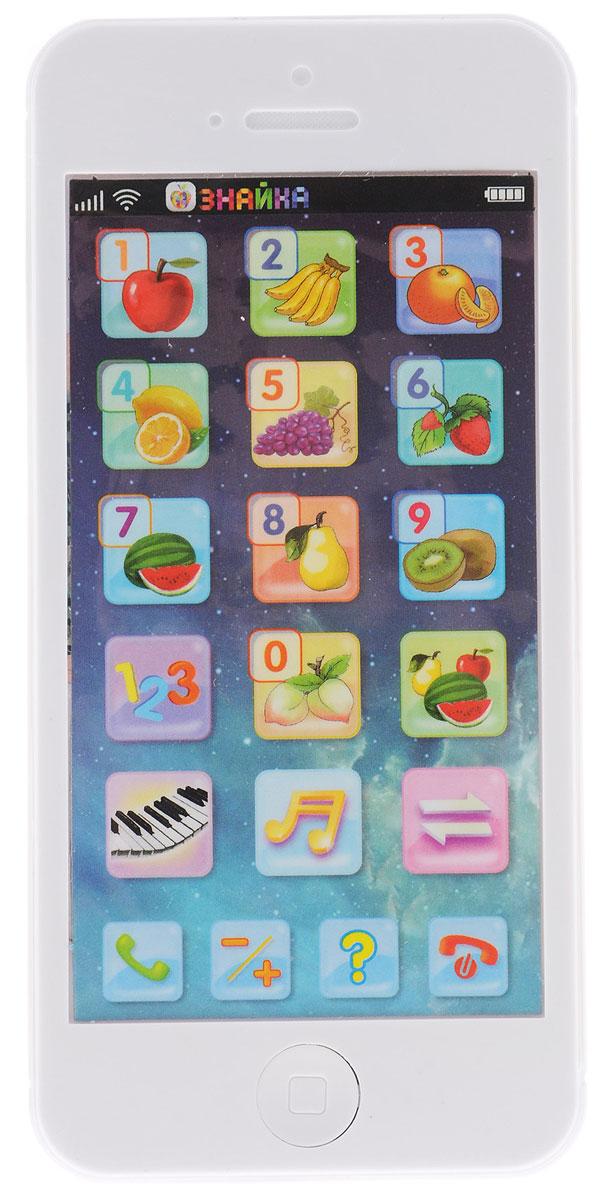 1TOY Развивающая игрушка Смартфон ФруктыТ57333Смартфон Фрукты станет новой любимой игрушкой вашего ребенка, ведь он так похож на настоящий! С такой игрушкой ребенок сможет изучать цифры, счет, фрукты на русском и английском языках! Смартфон может говорить на двух языках русском и английском, выбор языка осуществляется нажатием специальной кнопки. В зависимости от выбранного режима при нажатии на кнопки телефон произносит название цифры или фрукта, или звучит 1 нота. Есть режим Вопрос. В этом режиме смартфон просит найти цифру или фрукт. На ответ отводится определенное время. Также есть режим Экзамен. В этом режиме телефон просит решить простой пример на сложение или вычитание в пределах 10. В смартфоне есть и кнопки, при нажатии на которые, звучат мелодии и звуки, характерные для телефона. Для работы требуются 3 батарейки AG13 (в комплекте).