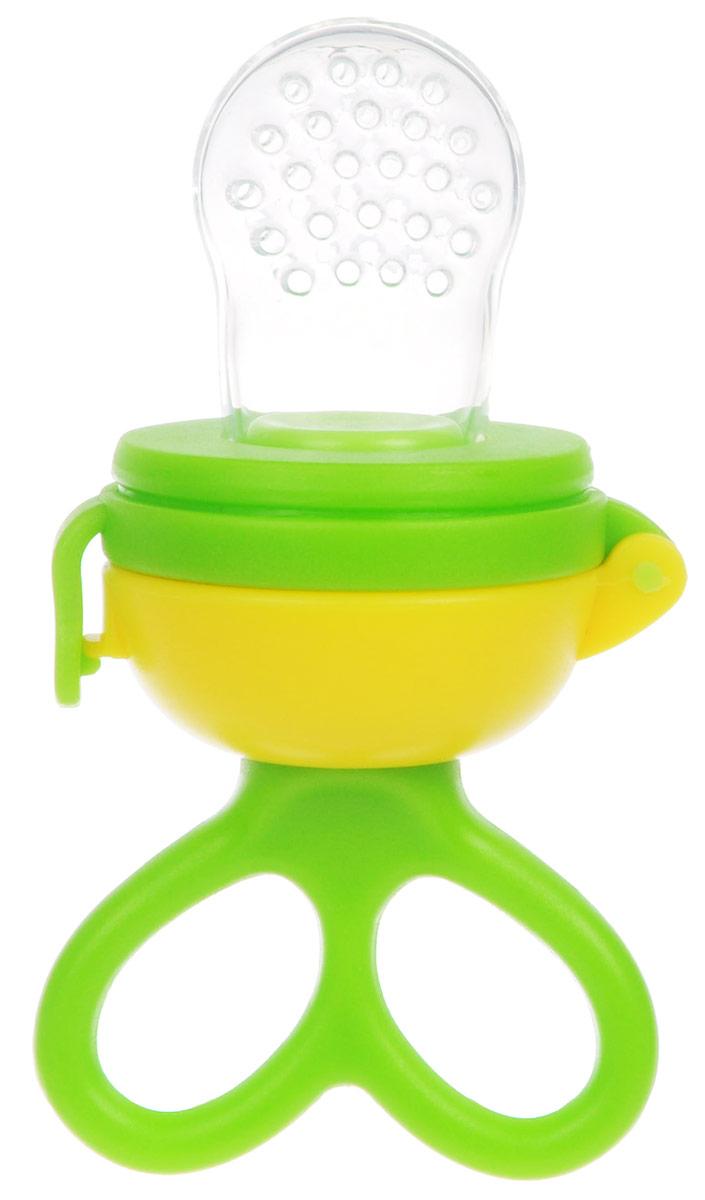 Lubby Ниблер ЖуйКА цвет салатовый11394_салатовыйНиблер Lubby ЖуйКА - незаменимый помощник при вводе прикорма для малыша! Изделие для прикорма идеально подходит для ягод, фруктов, овощей и прочих продуктов. Ваш малыш учится есть самостоятельно, исключая возможность поперхнуться кусочками пищи. Благодаря инновационному вращающемуся поршню, малыш сможет съесть все содержимое сеточки. Для этого нужно лишь повернуть ручку по часовой стрелке и содержимое продвинется вверх, к отверстиям на сеточке. Надежная система не позволит ребенку случайно открыть изделие. Колпачок предохраняет от загрязнений. Ручка удобна для детских пальчиков. Перед первым использованием рекомендуется кипятить изделие в течение 3-5 минут.