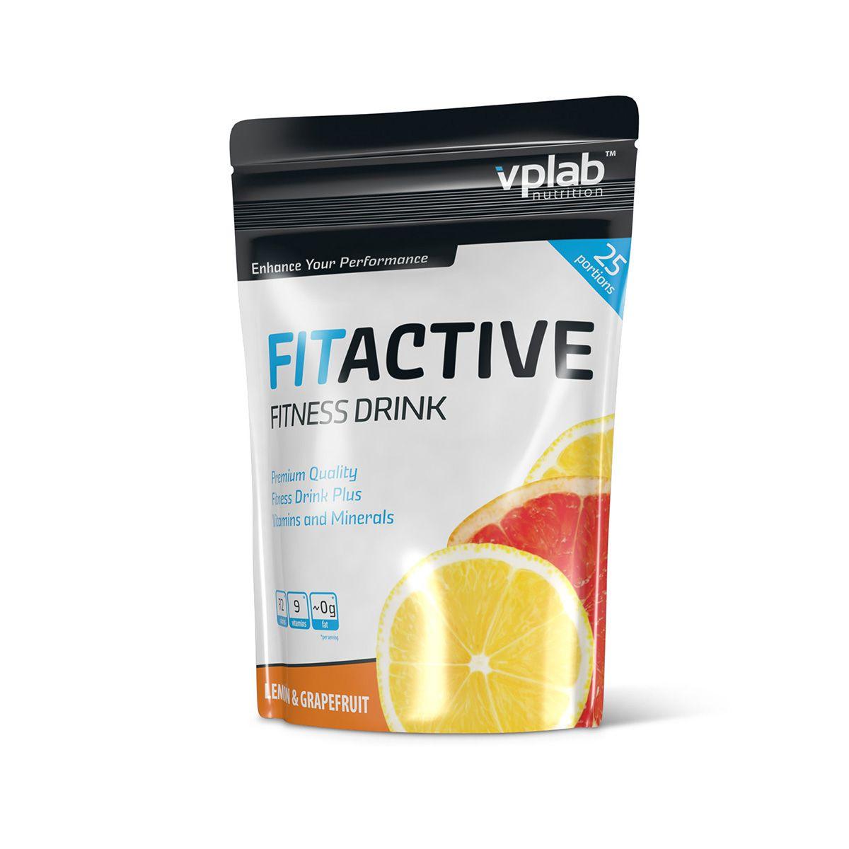 Изотоник VPLab FitActive Fitness Drink 500г лимон-грейпфрут ( V0713 )