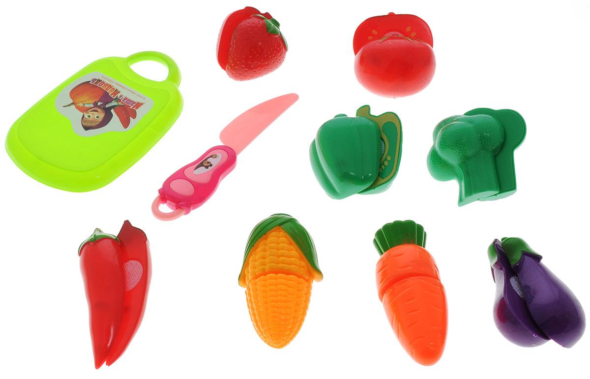 Играем вместе Игровой набор овощей и фруктов Маша и Медведь 10 предметов